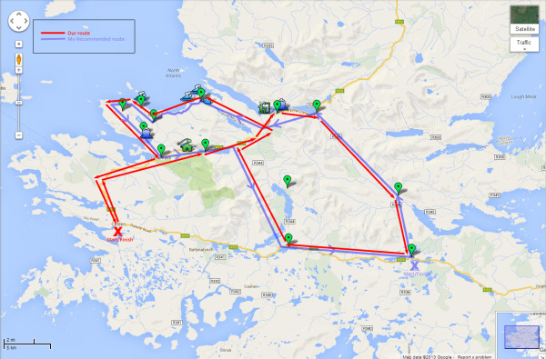 Connemara Loop Map