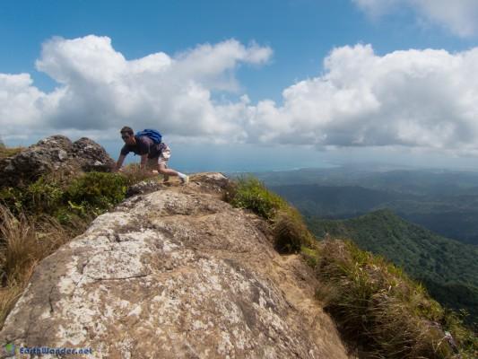 Steep rock dropoff