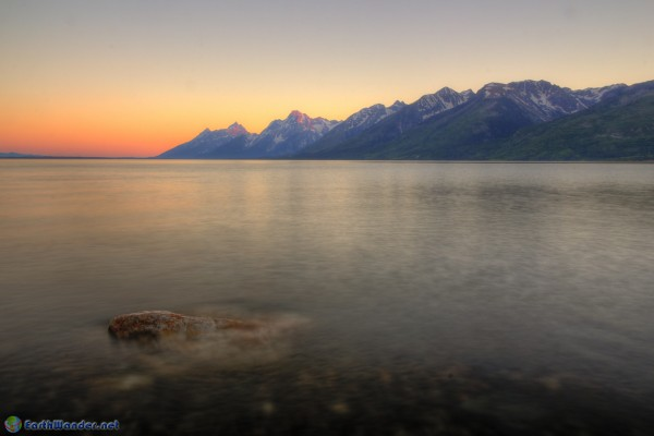 Jackson Lake Overlook Sunset