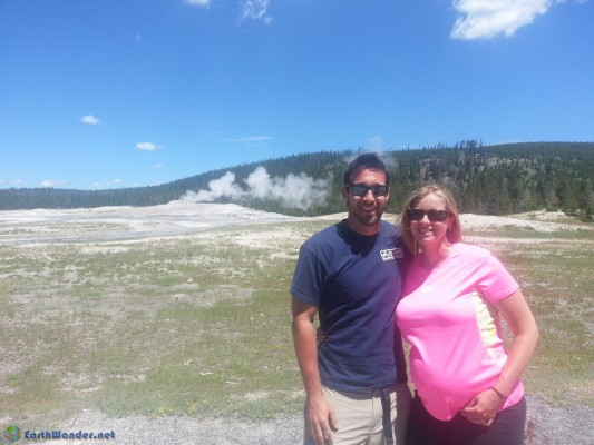 Waiting for Old Faithful to erupt